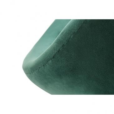 Fotel SWAN VELVET PREMIUM GOLD ciemny zielony - welur, podstawa złota