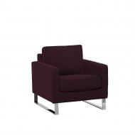 Fotel tapicerowany burgundowy Settebrini BLmeble