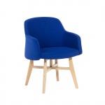 Fotel tapicerowany ciemnoniebieski Canfari