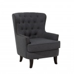 Fotel tapicerowany ciemnoszary Dioguardi II BLmeble