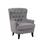 Fotel tapicerowany jasnoszary Dioguardi II BLmeble