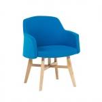 Fotel tapicerowany niebieski Canfari