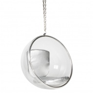 Fotel wiszący Bubble King Home srebrny