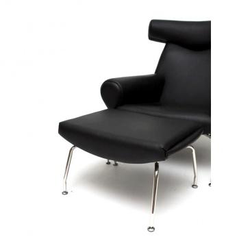Fotel Wół czarna skóra #4