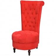 Fotel z wysokim oparciem czerwony