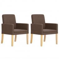 Fotele, 2 szt., brązowe, materiałowe