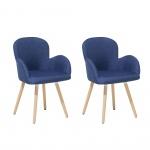 Fotele do salonu niebieskie Albicocca