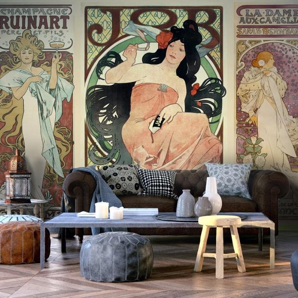 Fototapeta - Alphonse Mucha. Kobiety (300x210 cm) A0-XXLNEW011521