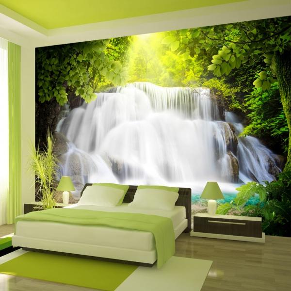 Fototapeta - Arkadyjski wodospad (300x210 cm) A0-XXLNEW010445