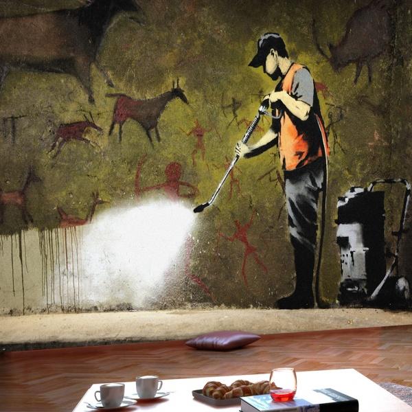 Fototapeta - Banksy - Cave Painting (300x210 cm) A0-XXLNEW011565