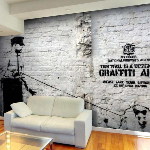 Fototapeta - Banksy - Graffiti Area (300x210 cm) A0-XXLNEW011566