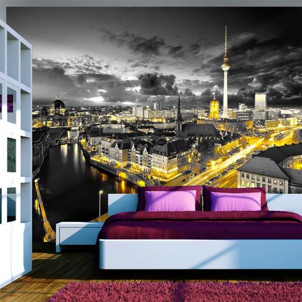 Fototapeta - Berlin nocą (300x210 cm) A0-XXLNEW010324