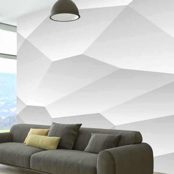 Fototapeta - Biała geometria (300x210 cm) A0-XXLNEW011179