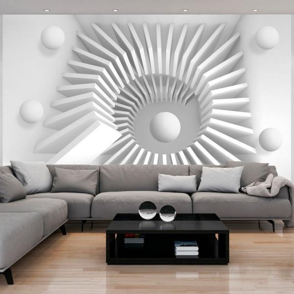 Fototapeta - Biała układanka (300x210 cm) A0-XXLNEW010893