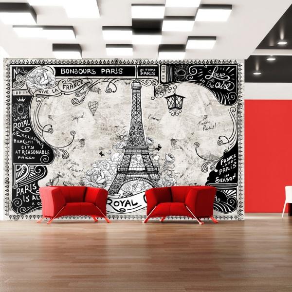 Fototapeta - Bonjour Paris (300x210 cm) A0-XXLNEW010661