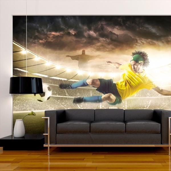 Fototapeta - Brazylijski futbol (300x210 cm) A0-XXLNEW010187