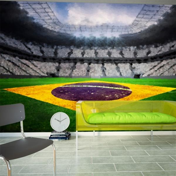 Fototapeta - Brazylijski stadion (300x210 cm) A0-XXLNEW010188