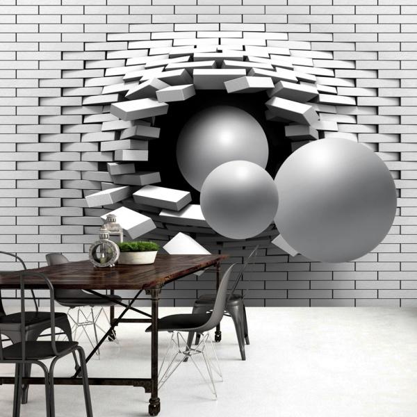 Fototapeta - Cegła w ścianie (300x210 cm) A0-XXLNEW011426
