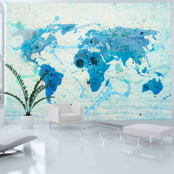 Fototapeta - Cruising and sailing -  The World map (200x154 cm) A0-LFTNT0468