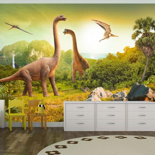 Fototapeta - Dinozaury (300x210 cm) A0-XXLNEW010553