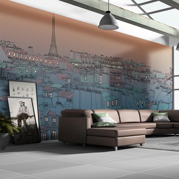 Fototapeta - Dobry wieczór Paryżu (550x270 cm) A0-F5TNT0058-P