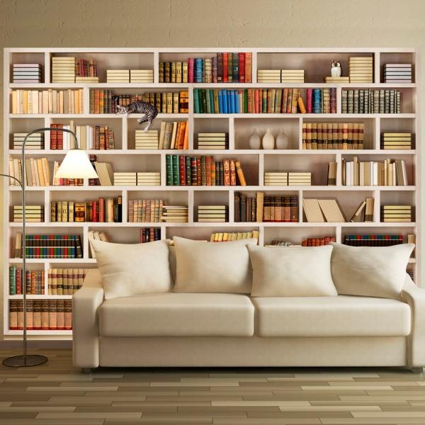 Fototapeta - Domowa biblioteczka (300x210 cm) A0-XXLNEW010221