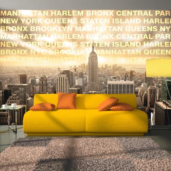 Fototapeta - Dzielnice Nowego Jorku (300x210 cm) A0-XXLNEW010504