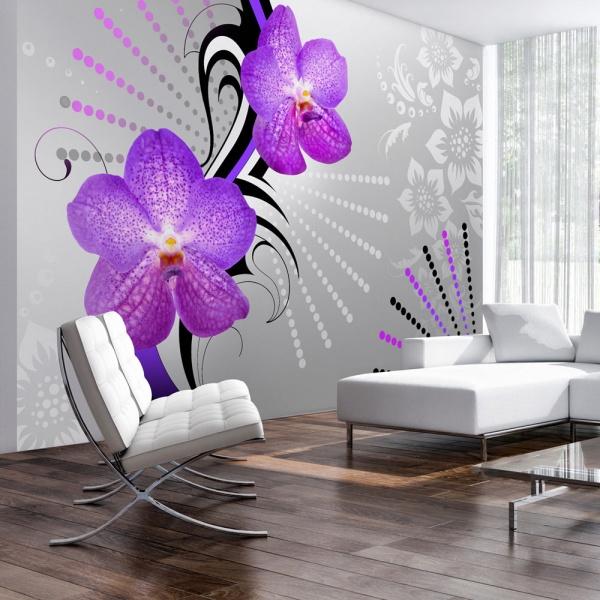Fototapeta - Fioletowe wibracje (300x210 cm) A0-XXLNEW010468