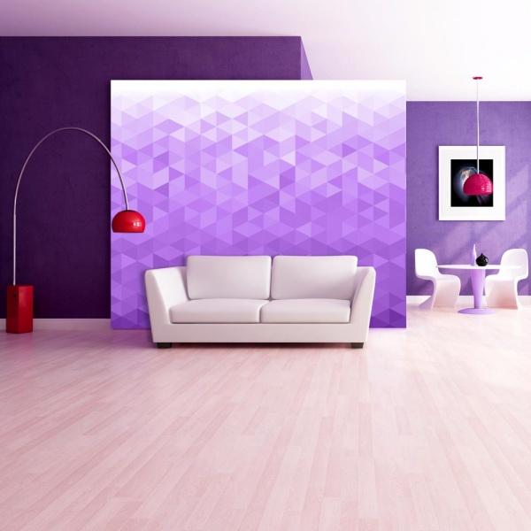 Fototapeta - Fioletowy piksel (300x210 cm) A0-XXLNEW010367