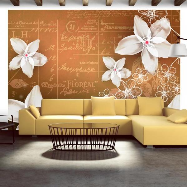 Fototapeta - Floral notes (300x210 cm) A0-XXLNEW010349