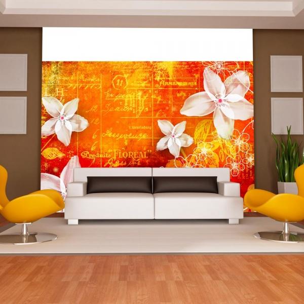 Fototapeta - Floral notes II (300x210 cm) A0-XXLNEW010348