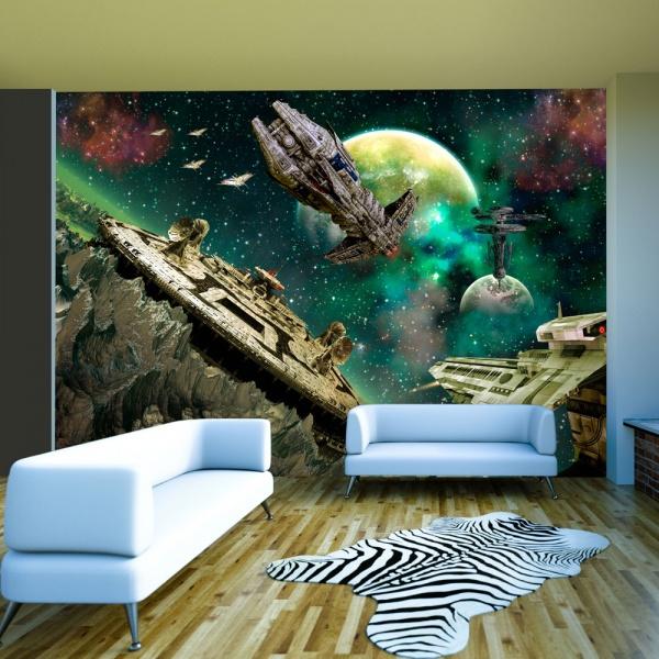 Fototapeta - Flota kosmiczna (300x210 cm) A0-XXLNEW010271
