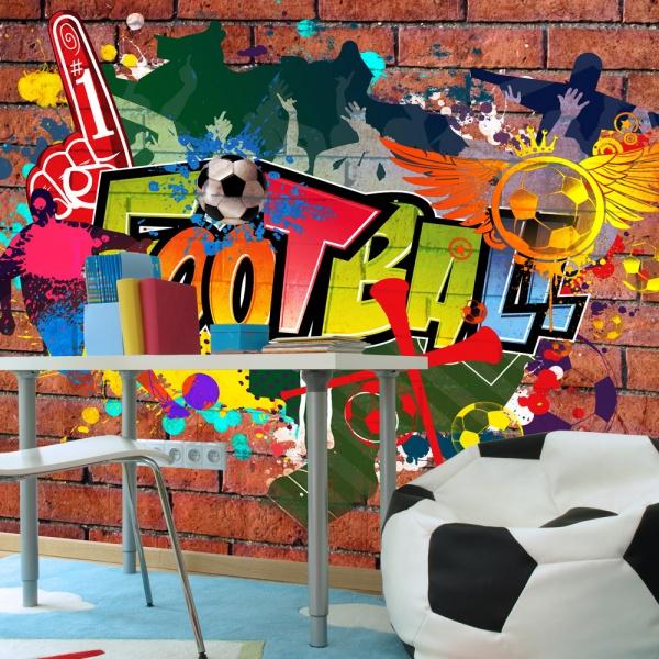 Fototapeta - Football fans! (300x210 cm) A0-XXLNEW010178