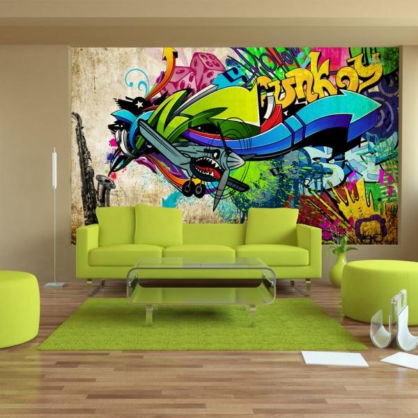 Fototapeta - Funky - graffiti (300x210 cm) A0-XXLNEW010143