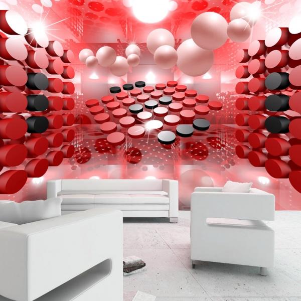 Fototapeta - Gra w czerwone i czarne (300x210 cm) A0-XXLNEW011430