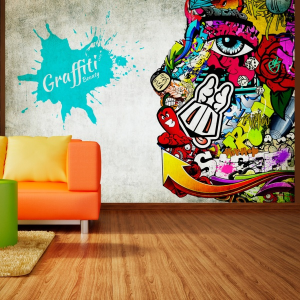Fototapeta - Graffiti beauty (300x210 cm) A0-XXLNEW010357