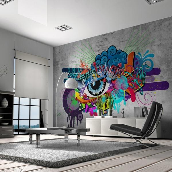 Fototapeta - Graffiti eye (300x210 cm) A0-XXLNEW010150