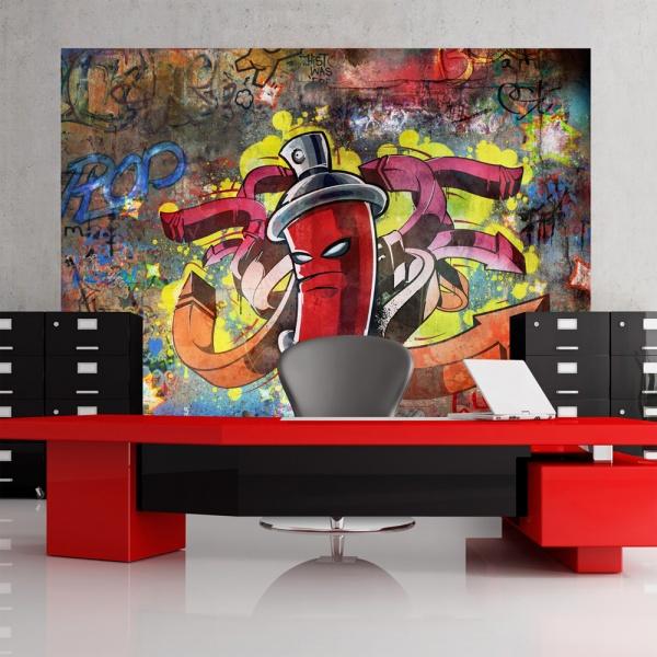 Fototapeta - Graffiti monster (300x210 cm) A0-XXLNEW010107