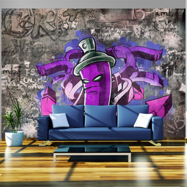 Fototapeta - Graffiti spray can (300x210 cm) A0-XXLNEW010109