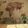 Fototapeta - Herbaciana mapa świata A0-F4TNT0140-P