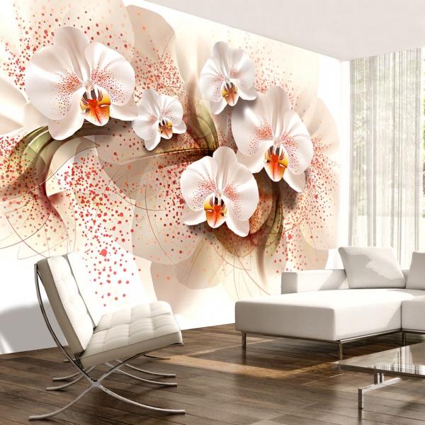 Fototapeta - Herbaciane orchidee (300x210 cm) A0-XXLNEW011178