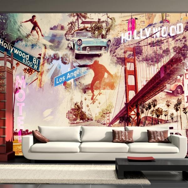 Fototapeta - Hollywood, Miami, Los Angeles... (300x210 cm) A0-XXLNEW010132