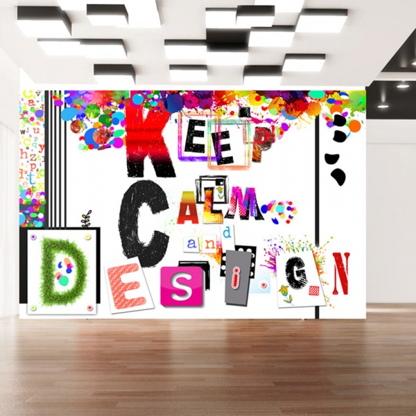 Fototapeta - Keep Calm and Design (300x210 cm) A0-XXLNEW010362
