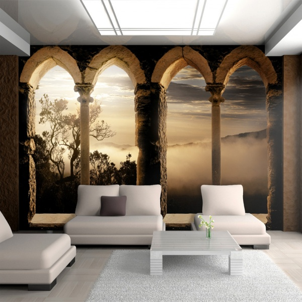 Fototapeta - Klasztor w górach (300x210 cm) A0-XXLNEW010208