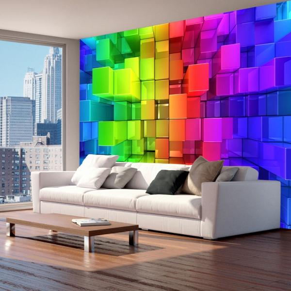 Fototapeta - Kolorowa układanka (300x210 cm) A0-XXLNEW011562