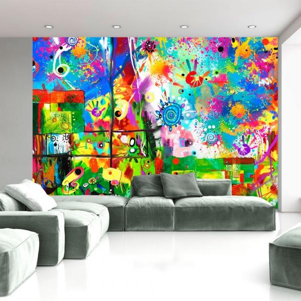 Fototapeta - Kolorowe fantazje (300x210 cm) A0-XXLNEW010156