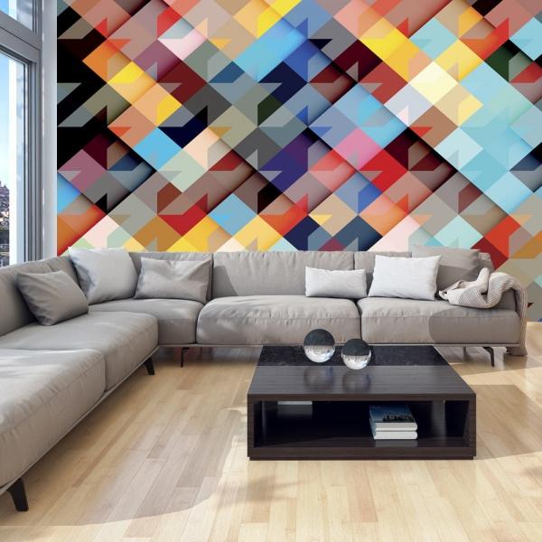 Fototapeta - Kolorowy patchwork (300x210 cm) A0-XXLNEW011564
