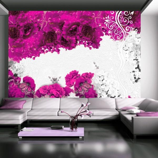 Fototapeta - Kolory wiosny: fuksjowy (300x210 cm) A0-XXLNEW010423