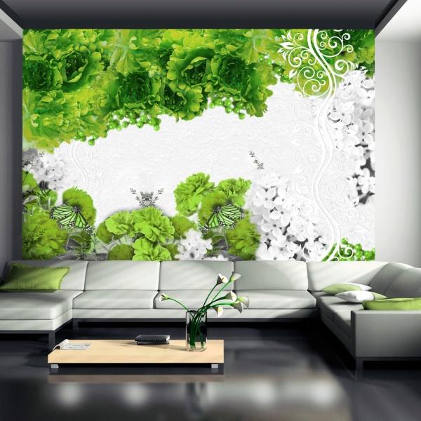 Fototapeta - Kolory wiosny: zielony (300x210 cm) A0-XXLNEW010422