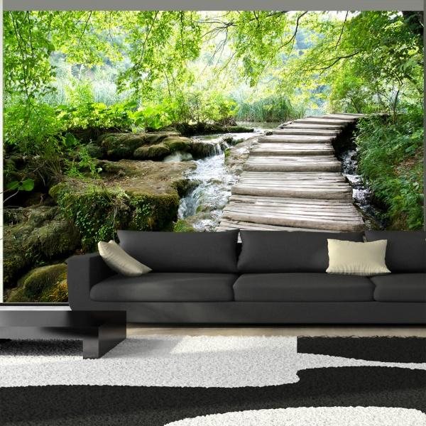Fototapeta - Leśna ścieżka (300x210 cm) A0-XXLNEW010325